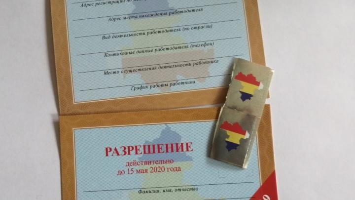 Область передала Ростову 610 тысяч пропусков на время самоизоляции