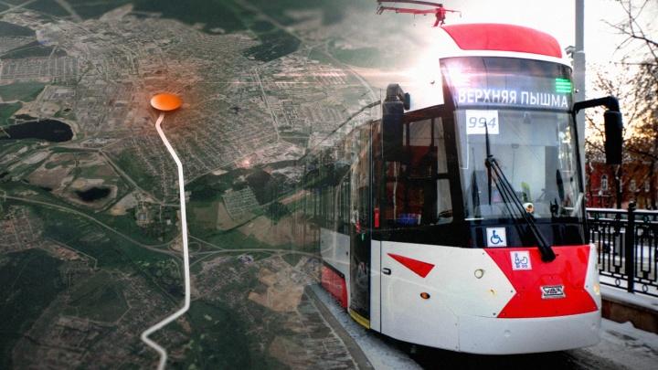У скоростного трамвая будет четыре остановки в Верхней Пышме: публикуем карту, где они появятся