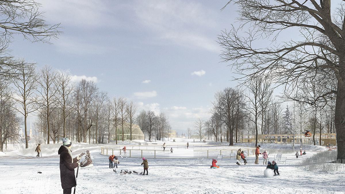 Praxys paysage & territoire (Франция) и KATARSIS Architects (Россия, Санкт-Петербург), а также Chrisan Horn, AREP, HyperCube, ASTAL, BIOTOPE и CYCLOPONICS