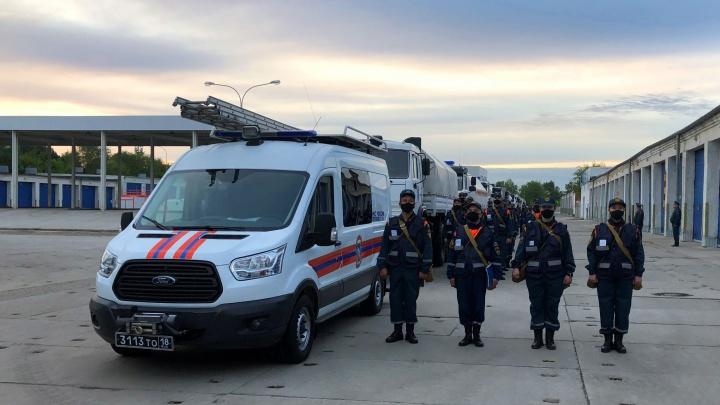 Самарские спасатели продезинфицируют школы и больницы в Дагестане