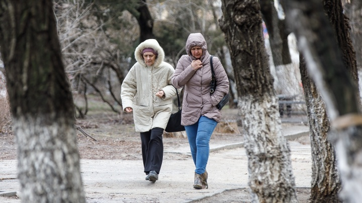На Волгоградскую область надвигается сильный ветер и похолодание до +2 ºС