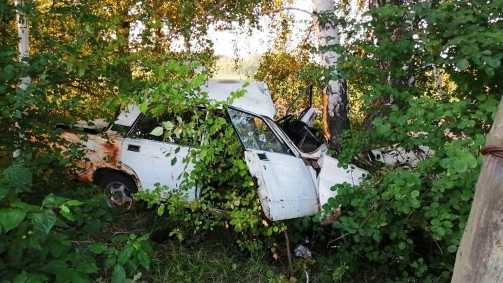 18-летняя девушка за рулём ВАЗа врезалась в дерево и погибла