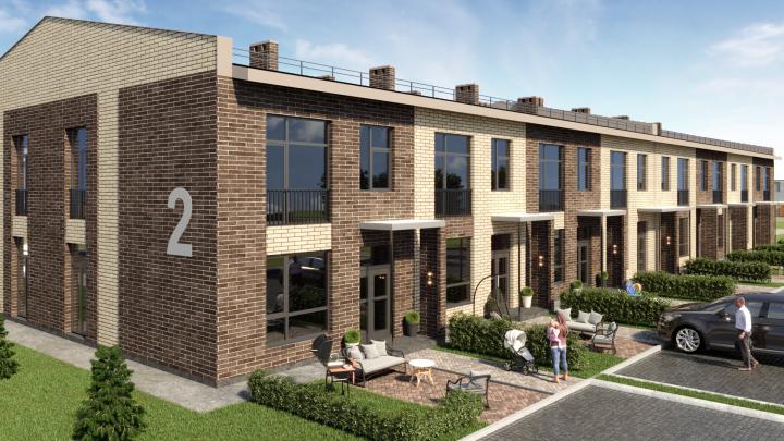 Двухэтажные дома стоят как квартиры: рядом с площадью Калинина таунхаусы продают за 13579рублей в месяц