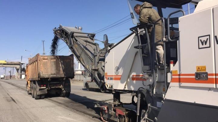 В Челябинске во время жесткой самоизоляции начался полноценный ремонт дорог