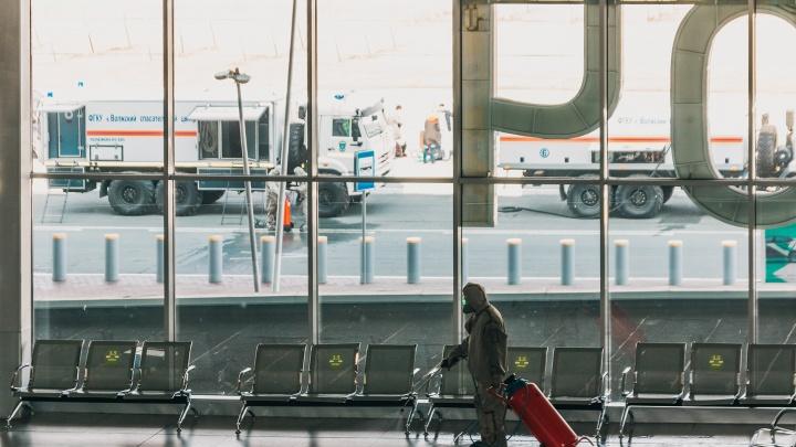В аэропорт Курумоч запустили бойцов химзащиты