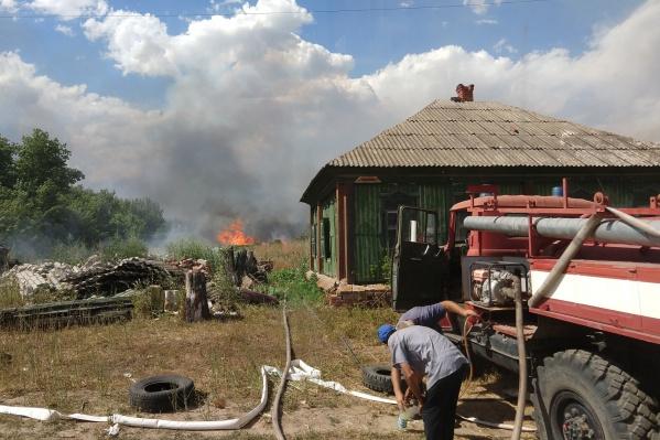 Степные пожары вынудили ввести режим чрезвычайной ситуации