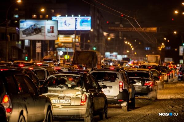 Движение по многим улицам затруднено