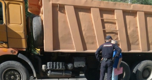 В Кургане водитель КАМАЗа сбил восьмилетнюю девочку