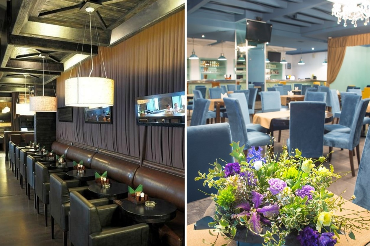 Ольга Романовская побывала в ресторане до его обновления (фото слева), два года спустя заведение серьезно изменилось (фото справа)