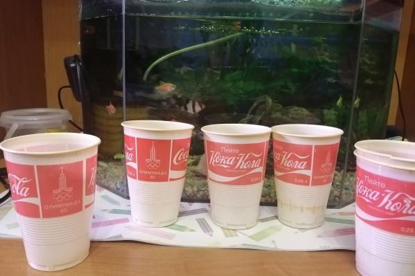 Пластиковые стаканчики в сохранности уже 40 лет
