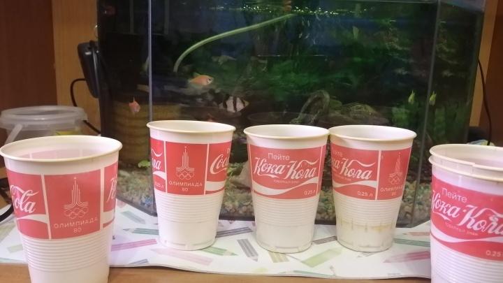 Красноярец выставил на продажу за миллион рублей стаканчики с Олимпиады-80 с логотипом «Кока-кола»