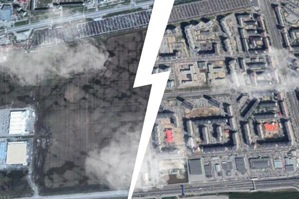Спутники видят, как поменялась Тюмень за десятилетие
