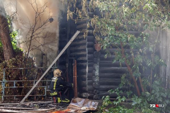 Пожар произошел сегодня утром