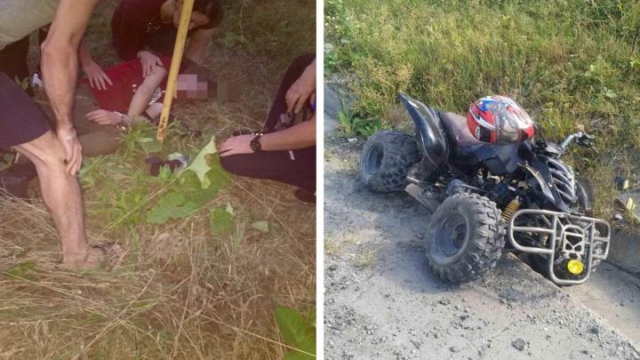 Подросток на квадроцикле сбил ребенка под Тобольском