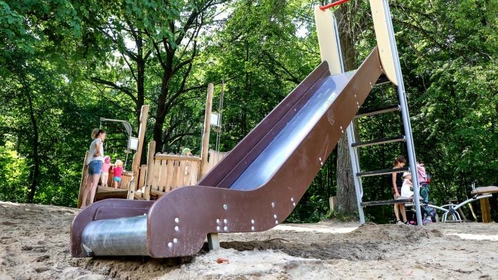На Щелоковском хуторе для детских площадок пожалели песка