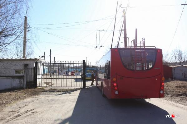 Все ярославские троллейбусы будут временно базироваться в депо на улице Гагарина