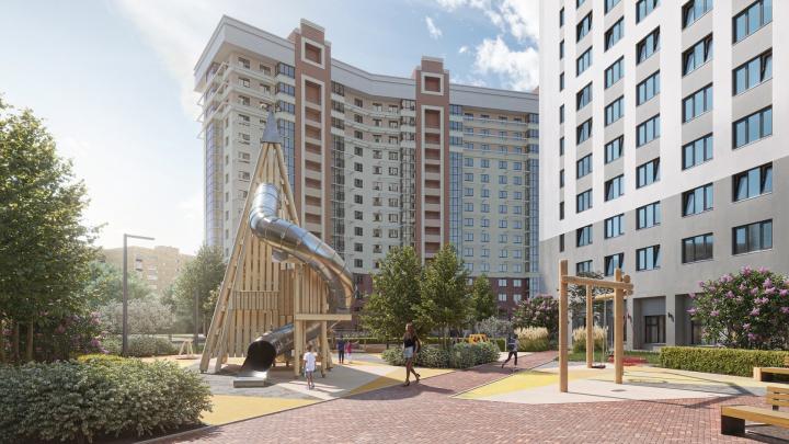 Зеленые крыши, вигвамы и площадки для взрослых: в городе появятся «хитрые» дворы — какими они будут