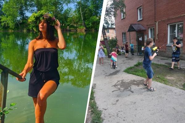 Фонтаны в центре Новосибирска в этом году на Ивана Купалу остались без воды, но новосибирцы всё равно нашли возможности для веселья