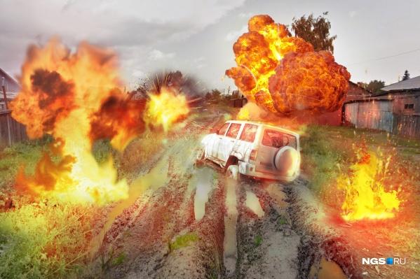Многие новосибирцы считают, что дороги в городе, как после бомбёжки