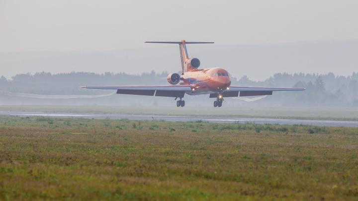 Из-за сильного утреннего тумана над Красноярском несколько самолетов сели в других городах