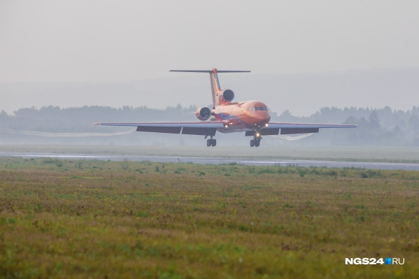Из-за утреннего тумана в Красноярске не смогли сесть 4 самолета