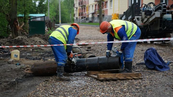 «Ярославльводоканал» проложил 1,5 километра новых труб для водопровода и канализации