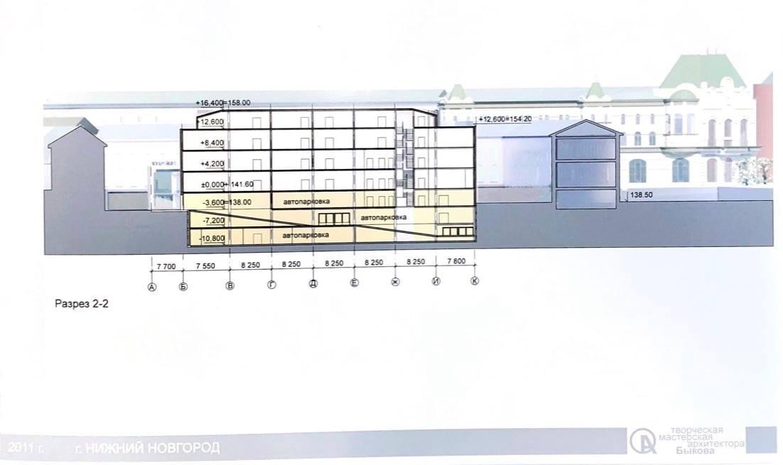 Планировались два подземных этажа и пять сверху
