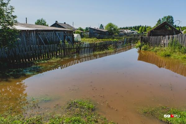 Некоторые поселки Пермского края регулярно оказываются в зоне затопления