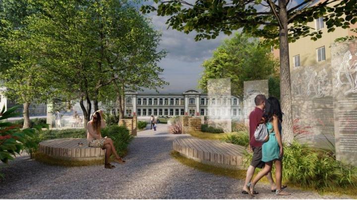 С проекцией аленького цветочка: в Самаре до конца года благоустроят сквер Аксаковых