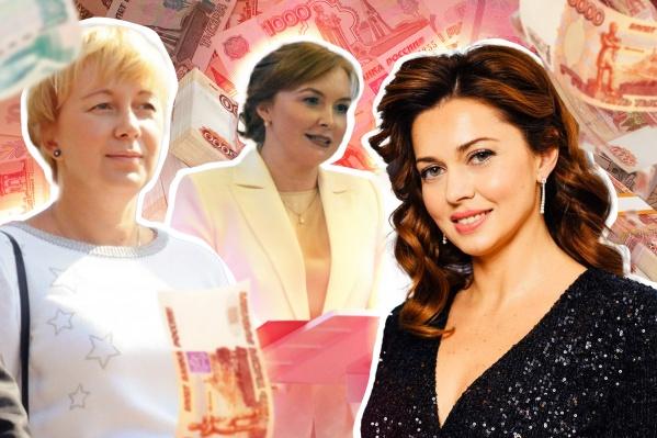 Жены губернаторов ПФО — Каринэ Хабирова (справа),Екатерина Никитина, жена губернатора Нижегородской области (слева),Наталья Николаева, жена врио главы Чувашии (в центре)