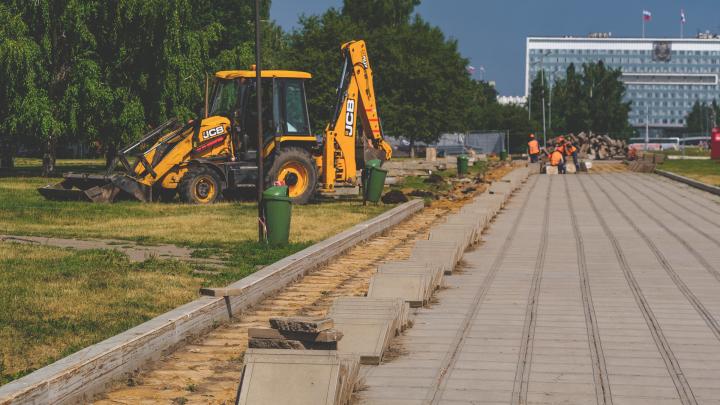 В Перми началась реконструкция центрального квартала эспланады. Фоторепортаж