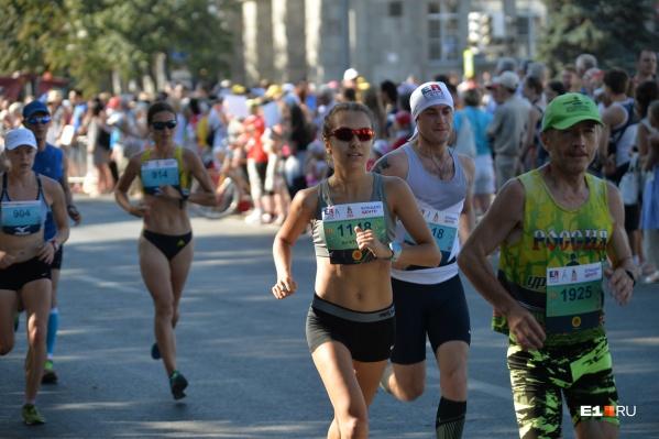 Самым жарким марафон в Екатеринбургебыл в 2016 году
