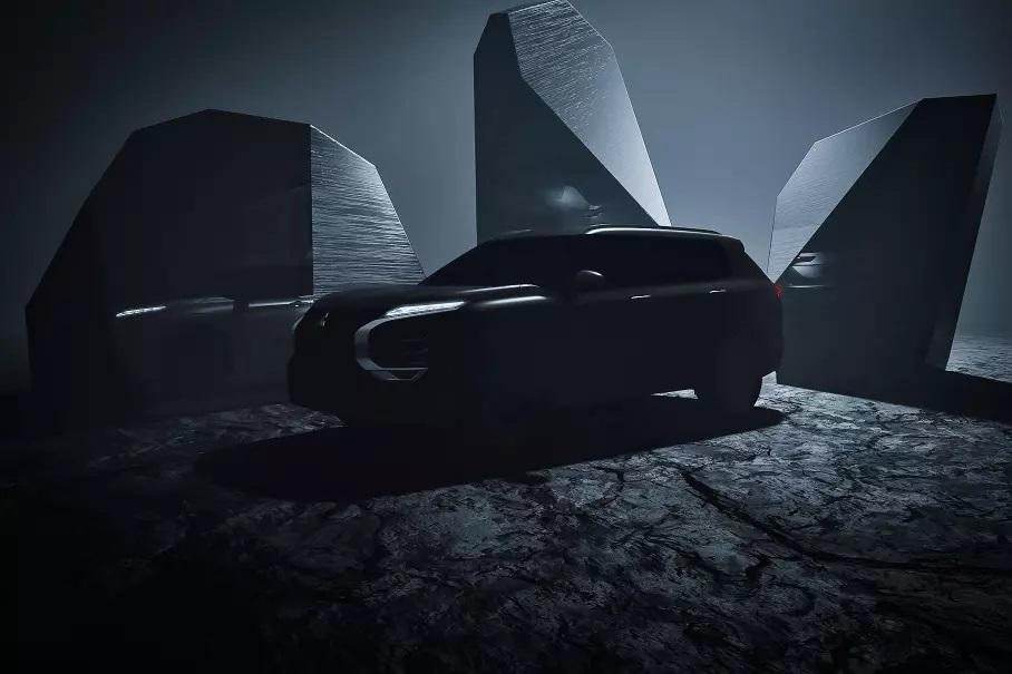 Mitsubishi Outlander сменит и платформу, и позиционирование. Пока компания показала лишь тизер модели, но в интернете уже полно шпионских снимков