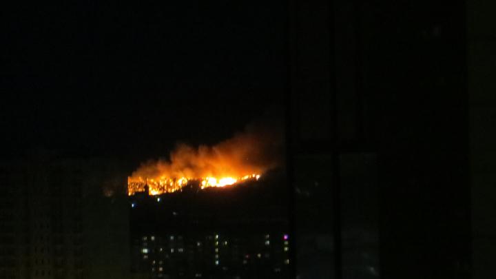 Около Новосибирска загорелась огромная свалка — пожар попал на видео