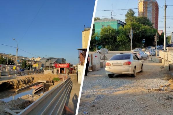 Подтопление произошло в Октябрьском районе