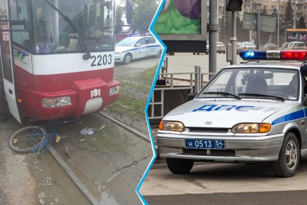 Школьник попал под трамвай в 17:38