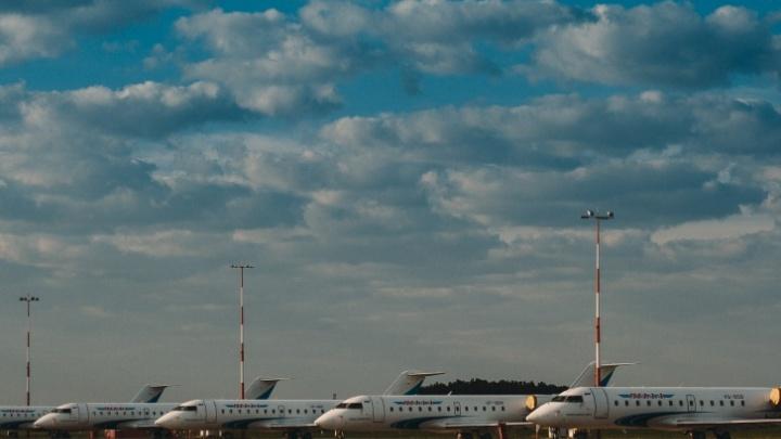 В аэропорту Тобольска приземлился реактивный самолет бизнес-класса