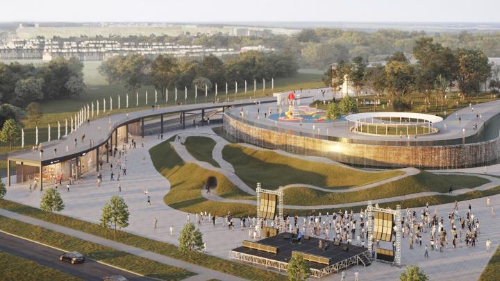 В «Кошелев-Парке» появится центральная площадь с водопадом и экстрим-парком