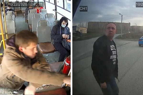 Слева — кондуктор автобуса, справа — депутат Олег Сидоров