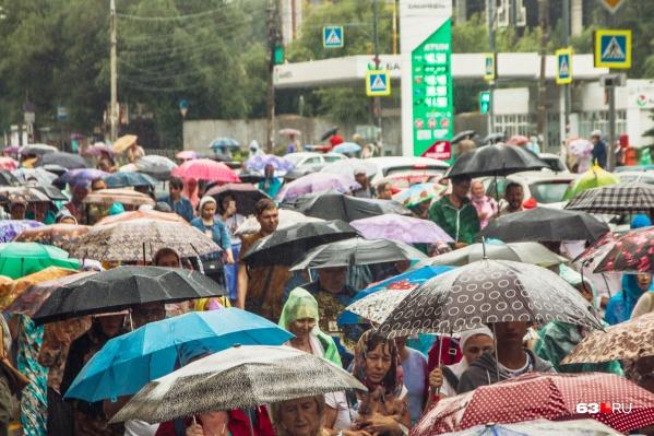 Дожди задержатся в Самарской области на все выходные