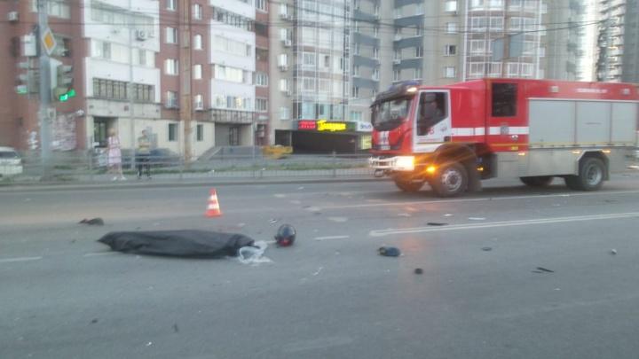 Сразу после столкновения произошёл взрыв: публикуем видео момента аварии с мотоциклом на Ботанике