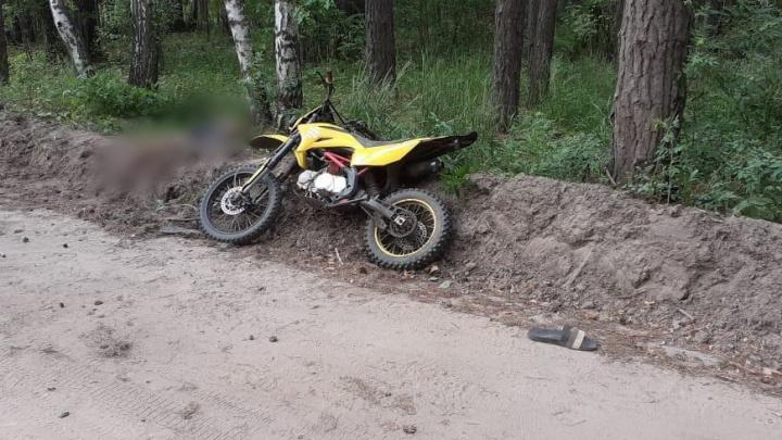 В Зауралье мотоциклист врезался в дерево и погиб