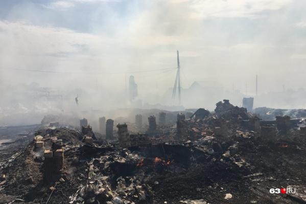 Площадь пожара составила 1000 квадратных метров