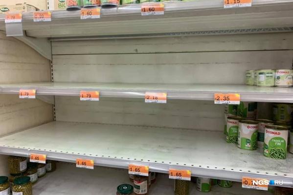 Так теперь выглядят полки в некоторых магазинах Северной Италии