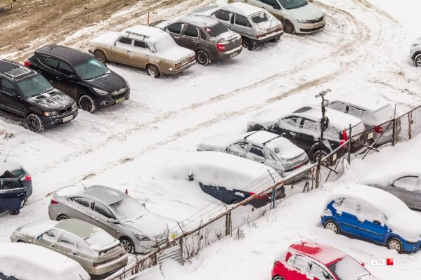 Парковка мешает будущему строительству