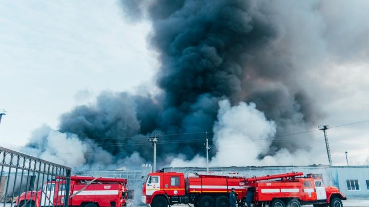В МЧС назвали предварительную причину пожара на складах по улице 2-йСолнечной