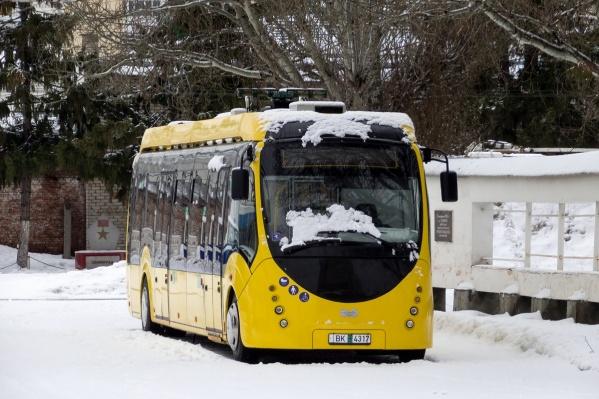Электробус сделали в Белоруссии
