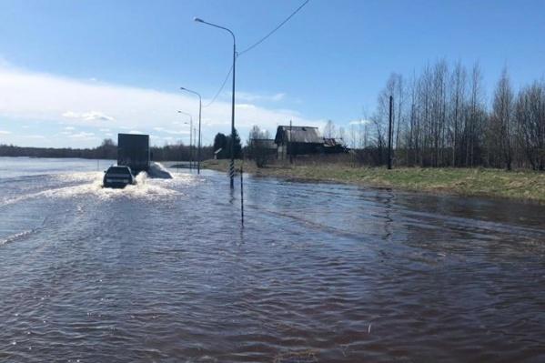 Затопило участок в районе деревни Семёновская