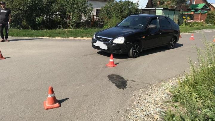 В Заельцовском районе «Лада» сбила 9-летнего мальчика на питбайке