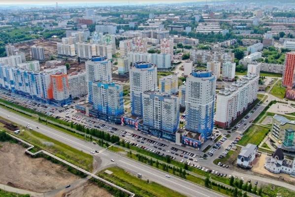 Жилой район начали строить в 2008 году